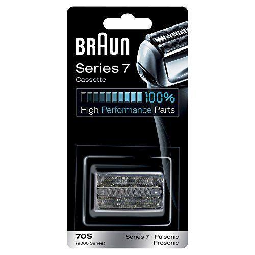 Braun Pièce de Rechange 70S Argentée pour Rasoir Compatible avec les Rasoirs Series 7: Série 79000 SériesPulsonic, Prosonic Bénéficiez à…