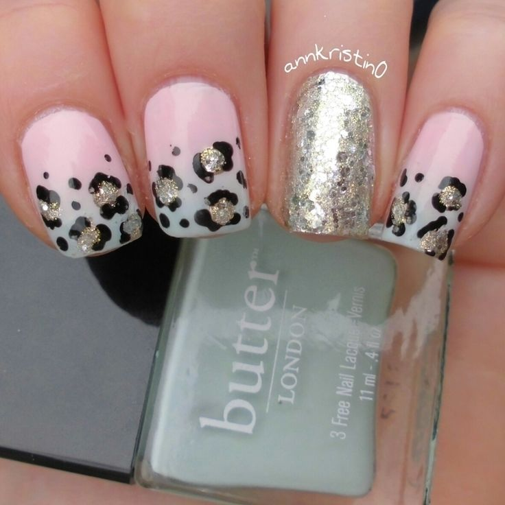 Nailpolis Museum of Nail Art | Leopard French Tips Ombré