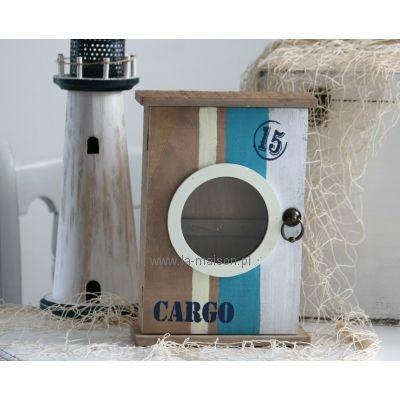 Szafka na klucze Morska z bulajem Cargo