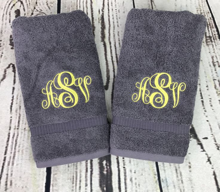 Monogram Towels For Bathroom: 15 Must-see Monogram Towels Pins