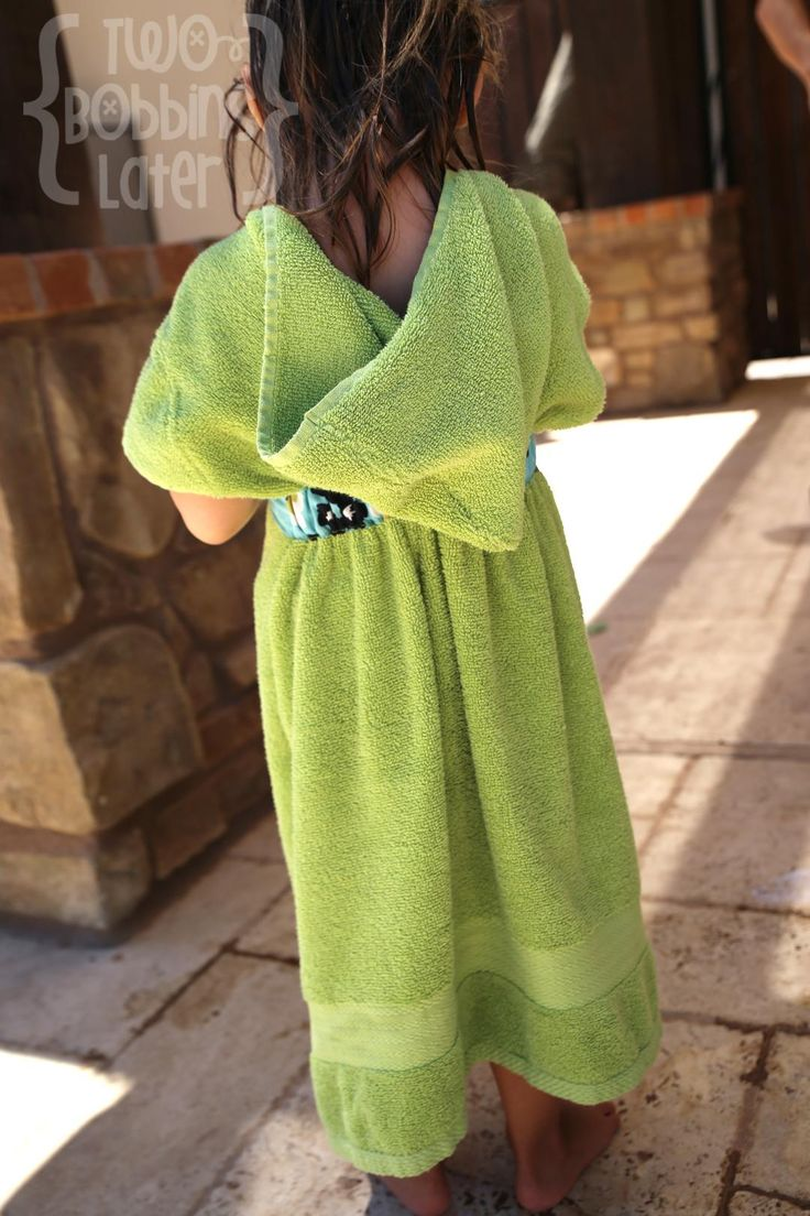 DIY Swimsuit Cover Ups : DIY Kids Beach Towel Cover-Up