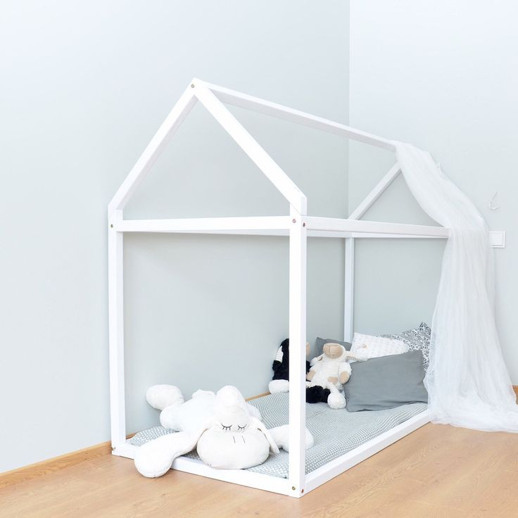 Perfect way how to transfer from baby crib to a toddler bed. Just make it more attractive for kid :)