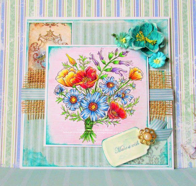 Dream Laine: A little touch of Springtime! #floral #powerpoppy #pencil  #pencilart  #fabercastellpolychromos  #polychromospencils  #spring #bouquet