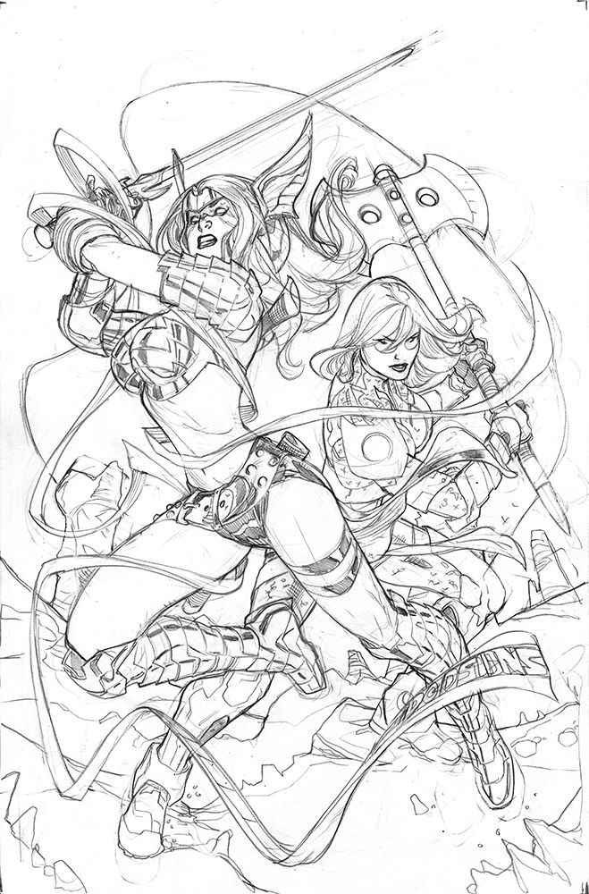 Guardians of the Galaxy #5 Angela Cover Pencil by TerryDodson.deviantart.com on @deviantART