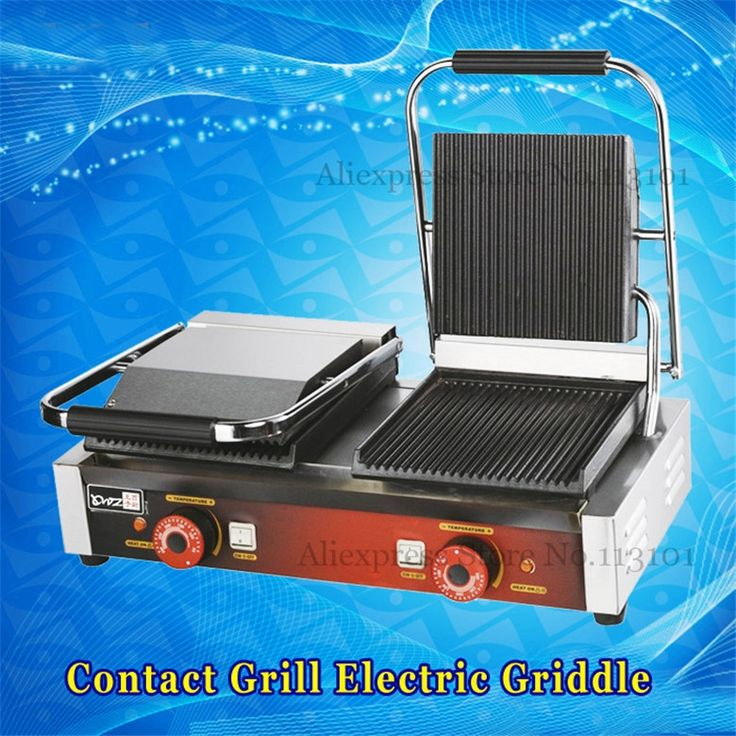 248.60$  Buy here - http://alizrn.worldwells.pw/go.php?t=32683019706 - Electric Grill Griddle, Sandwich Panini Press Grill Sandwich Maker Commercial Barbecue Griddler 2 Heads