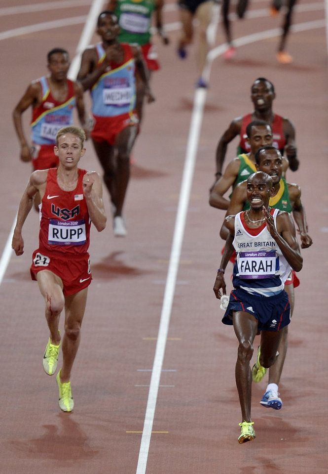 Britain's Mo Farah Wins 10,000-meter Gold, Galen Rupp Takes Silver. Love. This. Pic.
