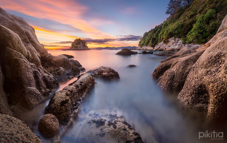 Sunrise at Little Kaiteriteri, near Nelson by Pikitia Postcards , via 500px