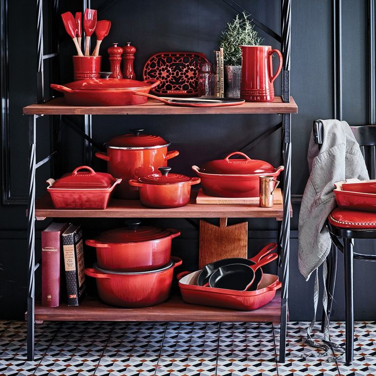 My dream kitchen tools all in one place...Le Creuset is always a welcome gift for folks who love to cook.