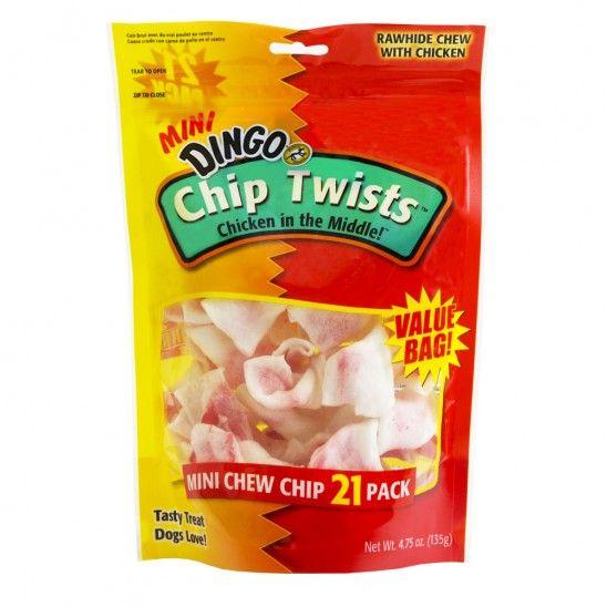 Dingo Mini Chicken Chip Twists Dog Treats $7.19!