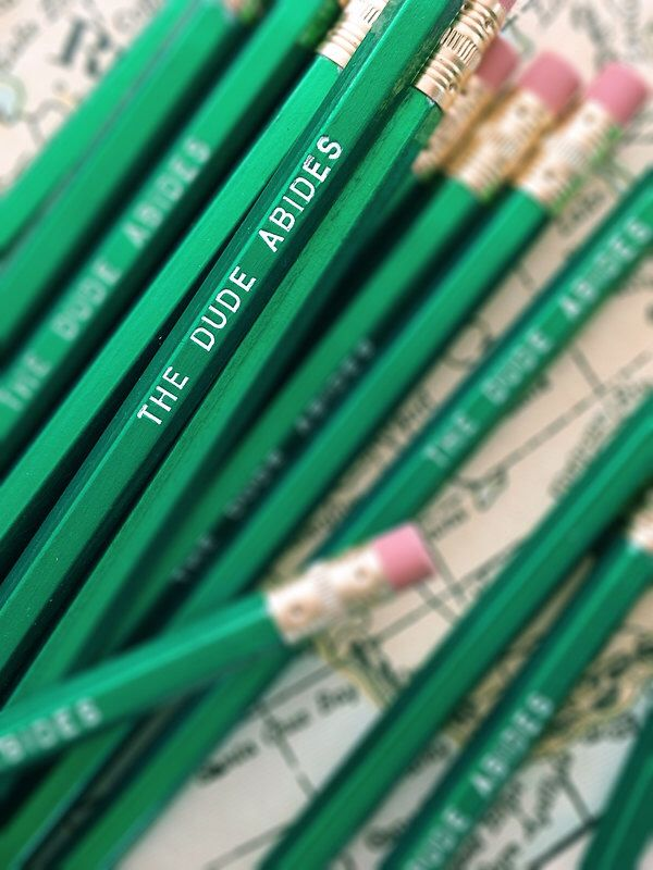 The Dude Abides Pencil 6 Pack - As seen on Cool Mom Picks by Earmark on Etsy https://www.etsy.com/listing/108177950/the-dude-abides-pencil-6-pack-as-seen-on