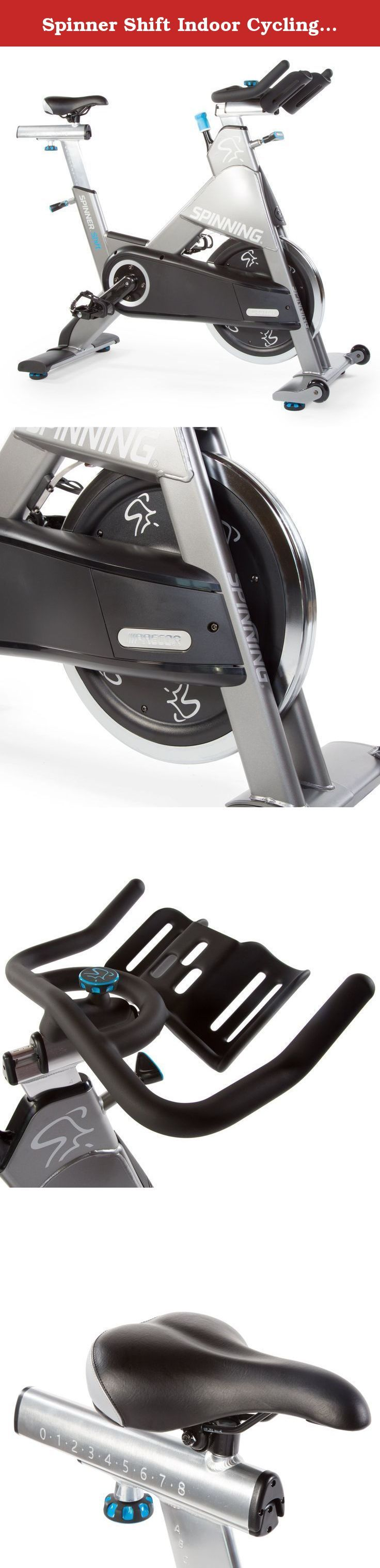 Spinner Shift Indoor Cycling Bike Chain Drive, Charcoal. Spinner shift is built to be a workhorse for your facility. The spinner shift combines a heavier steel frame with the same Great adjustment options (like the fore/aft handlebar adjustments) as the spinner Rally. It is a Great choice for facilities with 10 or more classes per week seeking to offer superior indoor cycle classes and rides. We sweat over every detail from the bike design and performance to meet our high standards.
