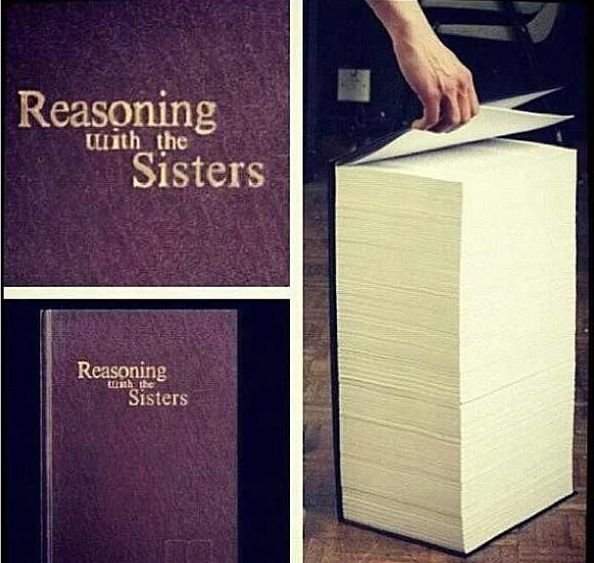 Haha! The instructional manual for reasoning with the sisters