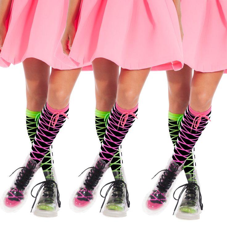 Zig Zag socks - clear gumbotos www.madmia.com/socks