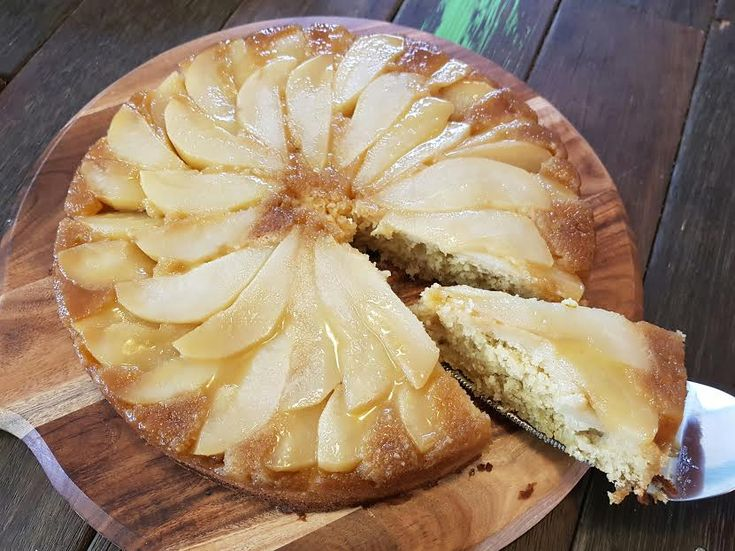 Caramelised Pear Upside Down Cake – Twins And A Blog