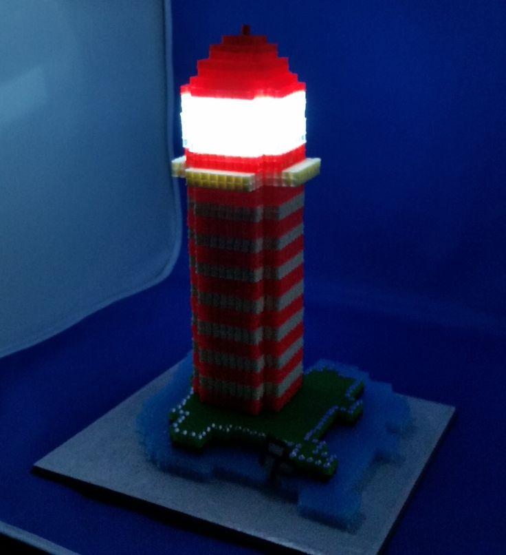 Leuchturm 3D  LED-Beleuchtung