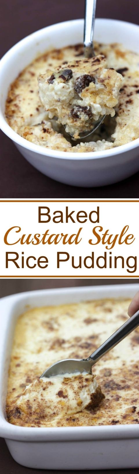 Baked Custard Style Rice Pudding recipe. A delicious Old Fashioned recipe from my Grandma| Tastes Better From Scratch