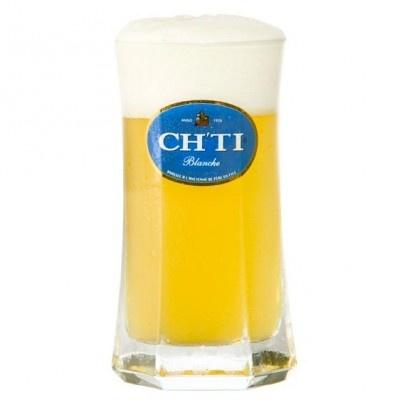 Verre à bière CHTI Blanche : achetez Verre à bière CHTI Blanche sur Pompe-a-biere.com