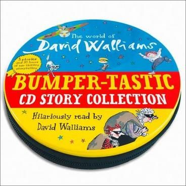 The World of David Walliams: Bumper-tastic CD Story Collection. David Walliams' Dahl-esque books are hugely popular with children and many of them have been adapted into hit BBC shows. Here are 8 of his books in audiobook format, so the whole family can listen and laugh to them - wherever you go!  All the stories are read by David himself and on some of them he's joined by special guests including Nitin Ganatra, Michael Gambon and his old Little Britain partner Matt Lucas.
