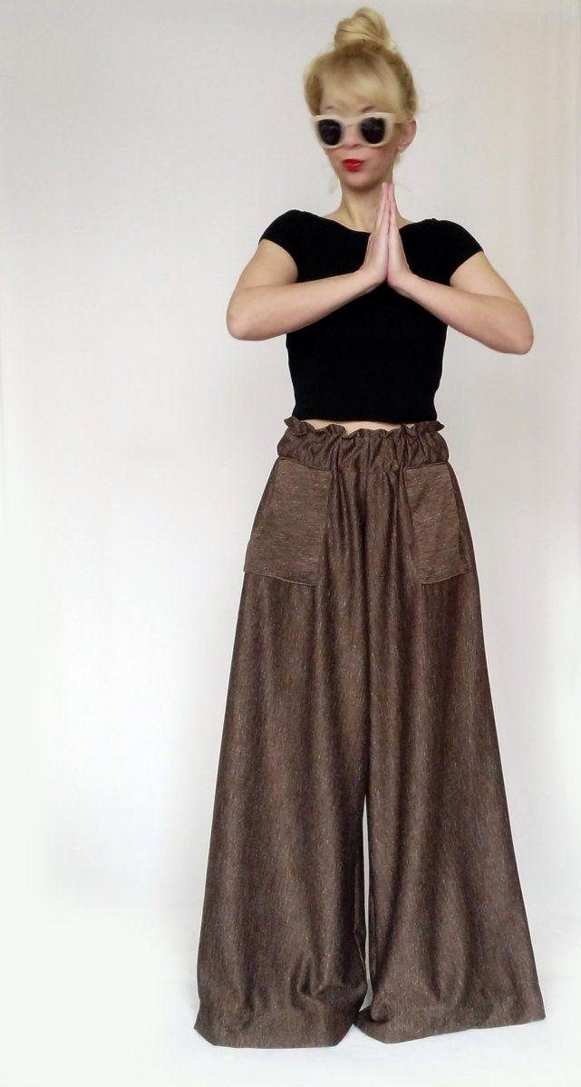 Wibe Leg Trousers Brown