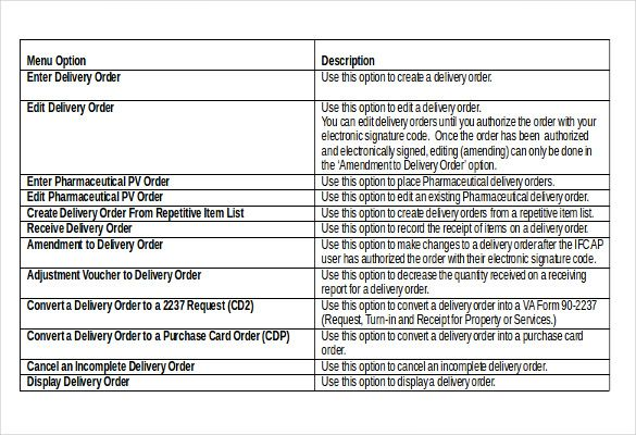11 Delivery Order Templates Word Excel Pdf Templates Order Template Invoice Template Templates Word