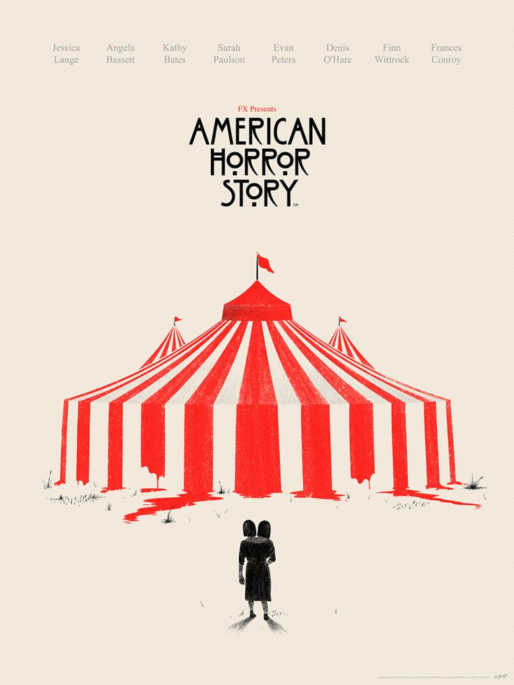 """American Horror Story - Freak Show - Doaly - ''The Big Top'' ---- """"American Horror Story"""" art show at Hero Complex Gallery (2015-10) #AHS"""