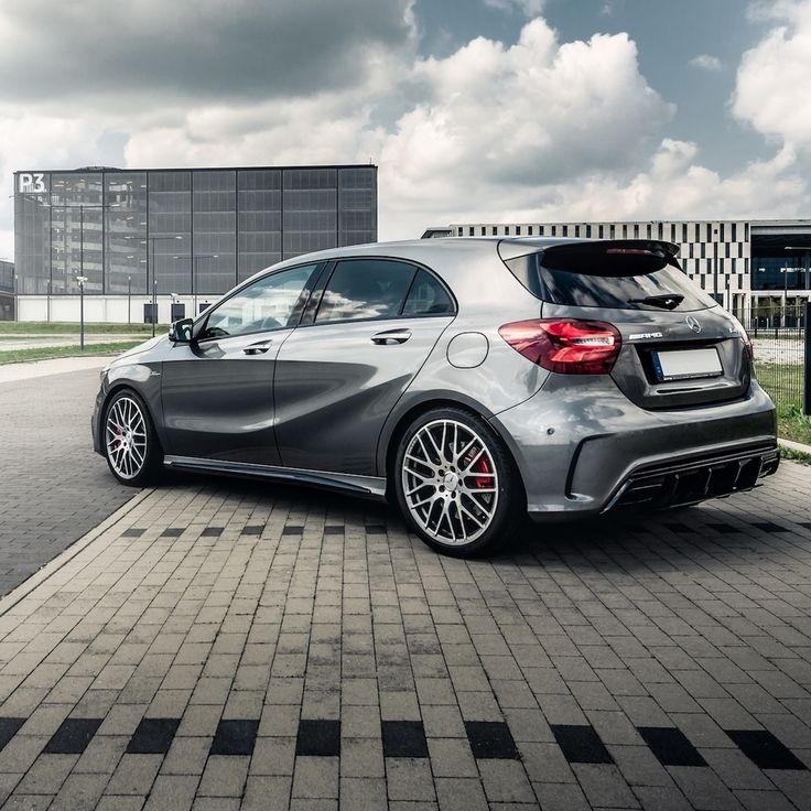 Ready to go, always: the Mercedes-AMG A 45.  Photo by @riccispeckelsphotography for #MBsocialcar  #MercedesAMG #Mercedes #AMG #DrivingPerformance [Fuel consumption combined: 7.3-6.9 l/100 km | Combined CO2 emissions: 171-162 g/km]
