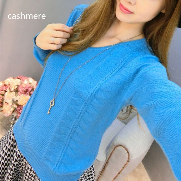 2016 new style fashion sexy V-neck cashmere sweater women sweater pullover sweater large collar long-sleeved sweater