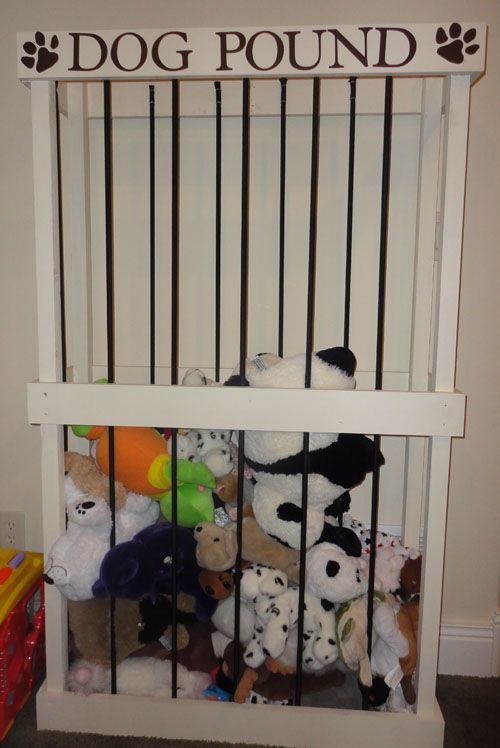Stuffed Animal Corral | This Lady's House so perfect for so many stuffed animals