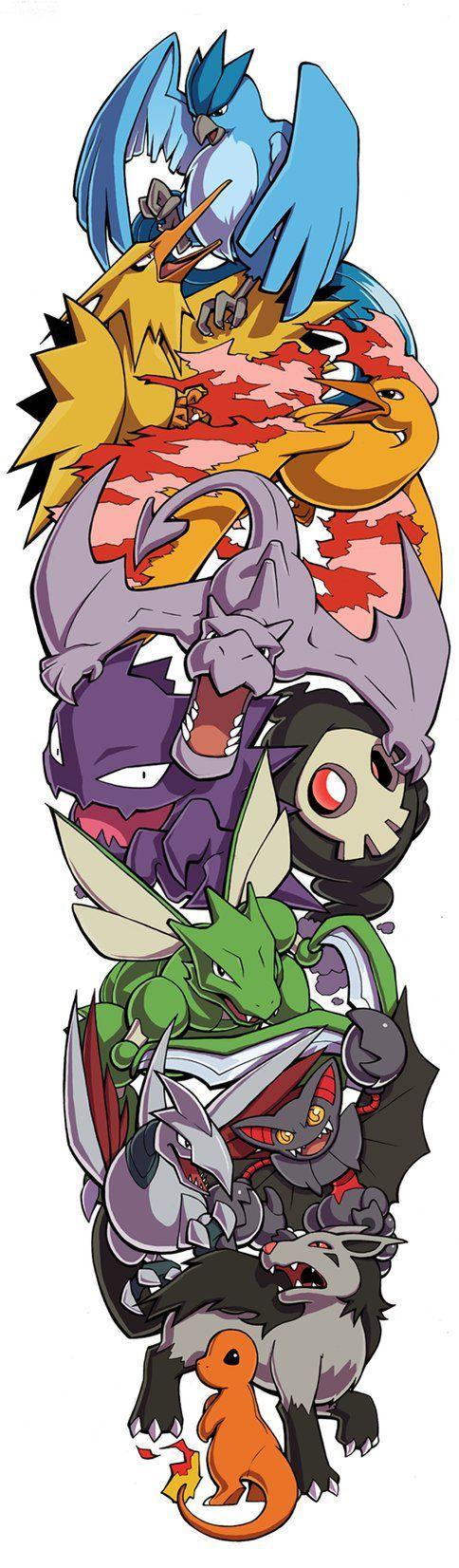 Pokemon Sleeve 6 by H0lyhandgrenade