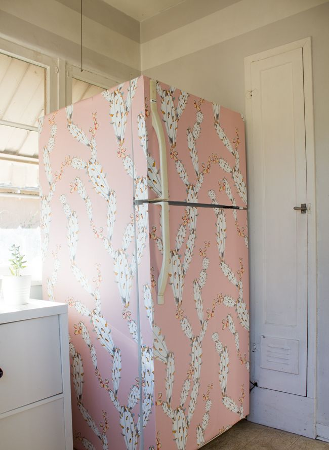 My Diy Rental Friendly Pink Fridge Fridge Decor Diy