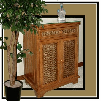 Cottage Wicker Storage Cabinet Via Wickerparadise Storage Wicker Brown Www Wickerparadise