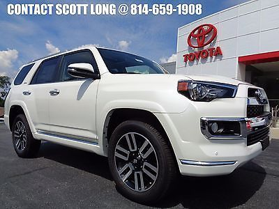 2017 Toyota 4Runner New 2017 Limited 4x4 Navigation Blizzard Pearl New 2017 4Runner Limited 4x4 Navigation Heated Cooled Leather Sunroof…