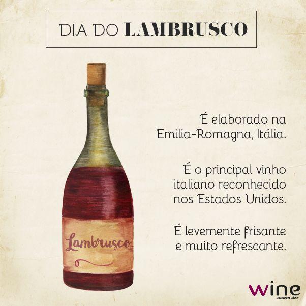 Aprenda mais sobre o lambrusco e brinde com a gente! #lambrusco #vinho #wine