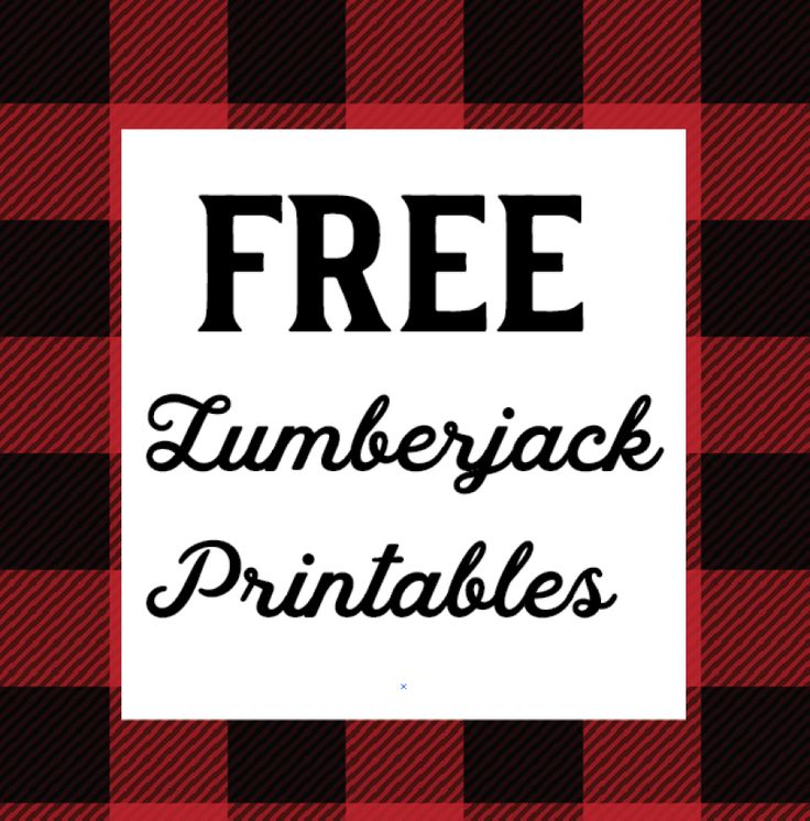 Free 1st Year Lumberjack Party Printables Caden S Birthday