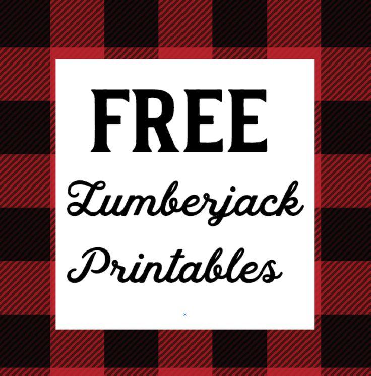 Free 1st year lumberjack party printables | Caden's birthday