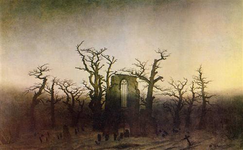 The Abbey in the Oakwood - Caspar David Friedrich, 1810