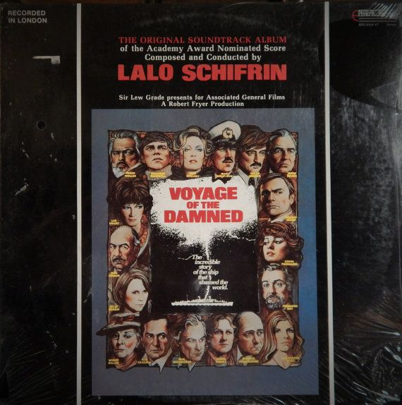 """Voyage Of The Damned  12"""" Vinyl Lp Mint Original Soundtrack (1977 music Lalo Schifrin) Orson Welles, James Mason, Faye Dunaway, Oskar Werner"""