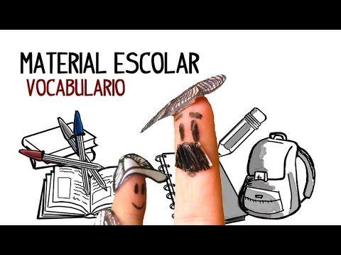 Aprende las palabras del material escolar, vocabulario español colegio o escuela Clases para aprender español online gratis. Ver vídeos para aprender español...