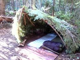 I'm all for rustic...but...this might be a stretch. let's stick with at least having a tent made of something synthetic