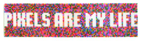 Pixels are my life : Dominique Falla : Tactile Typography
