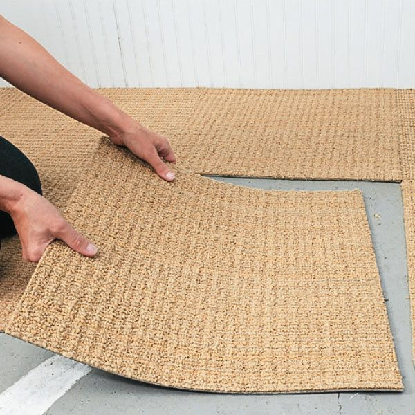 Functional Flooring - Carpet squares are comfortable underfoot, attractive, and easy to replace if an area ever gets stained or damaged. Just pull up the affected ones, and leave the rest in place. (And won't be slippery if water is spilled.)