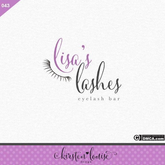 Premade Eyelashes Logo, Eyelash Bar Logo, Eyelash Logo, Makeup Artist Logo…