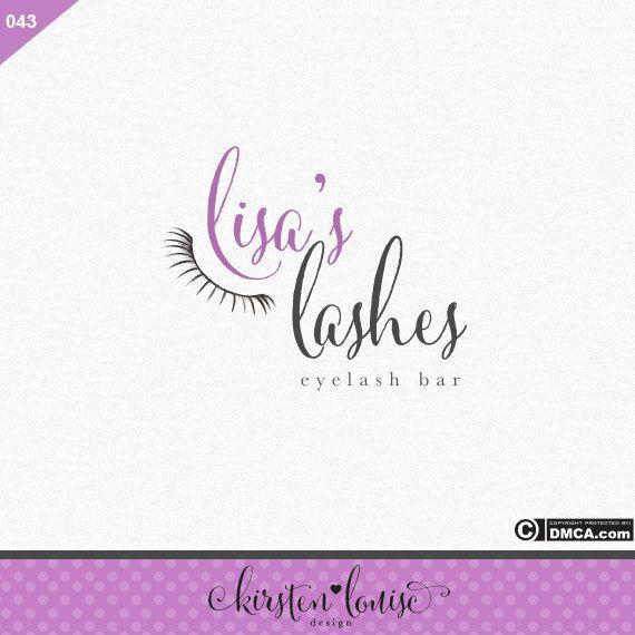 Premade Eyelashes Logo Eyelash Bar Logo by KirstenLouiseDesign  #logodesign…