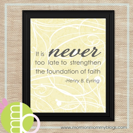 Relief Society : It's Never Too Late Printable