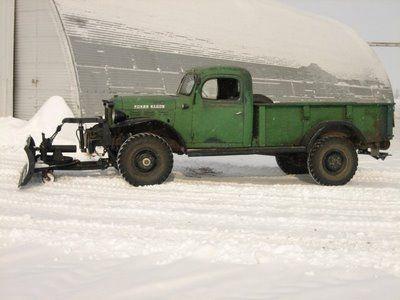 vintage plow truck | VWVortex.com - 1966 Dodge Power Wagon + modern Cummins motor