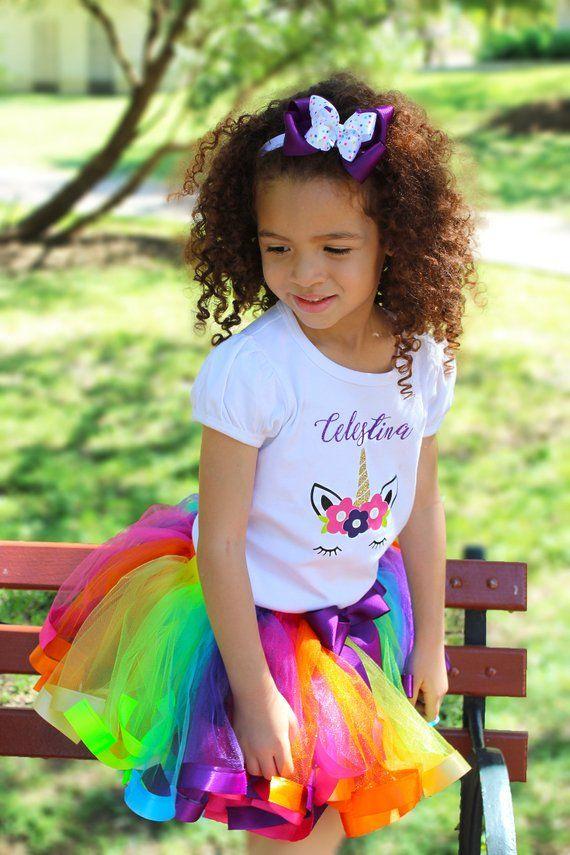 84127cf82 Unicorn Tutu - Rainbow Tutu - Unicorn 1st Birthday Outfit - Toddler Girl  Birthday Outfit - Toddler T