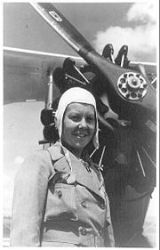 Sabiha Gokcen (Sabiha Gökçen) - The world's first female fighter pilot, and the first Turkish female combat pilot, aged 23. (b. 1913)