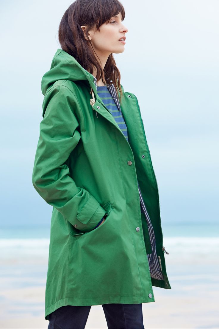Stylish Seasalt raincoat, in our famous organic cotton canvas Tin Cloth© fabric.