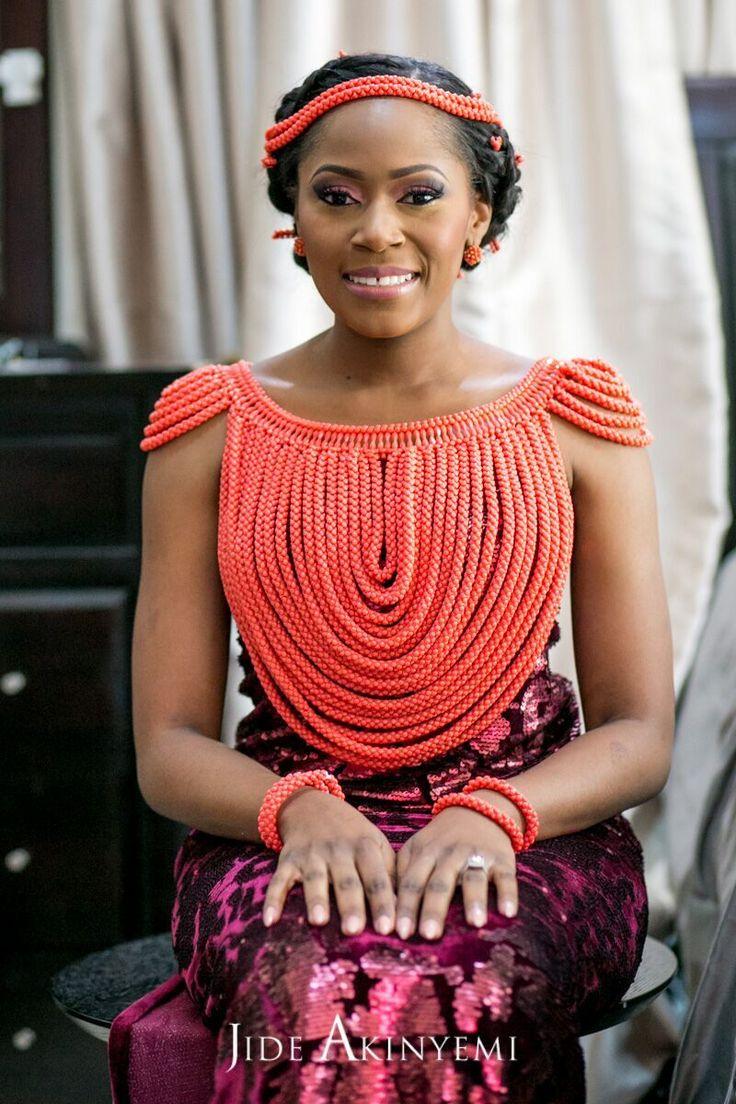 Nigerian wedding, Nigerian bride, wedding accessories jewelry sets beads big body chains necklace