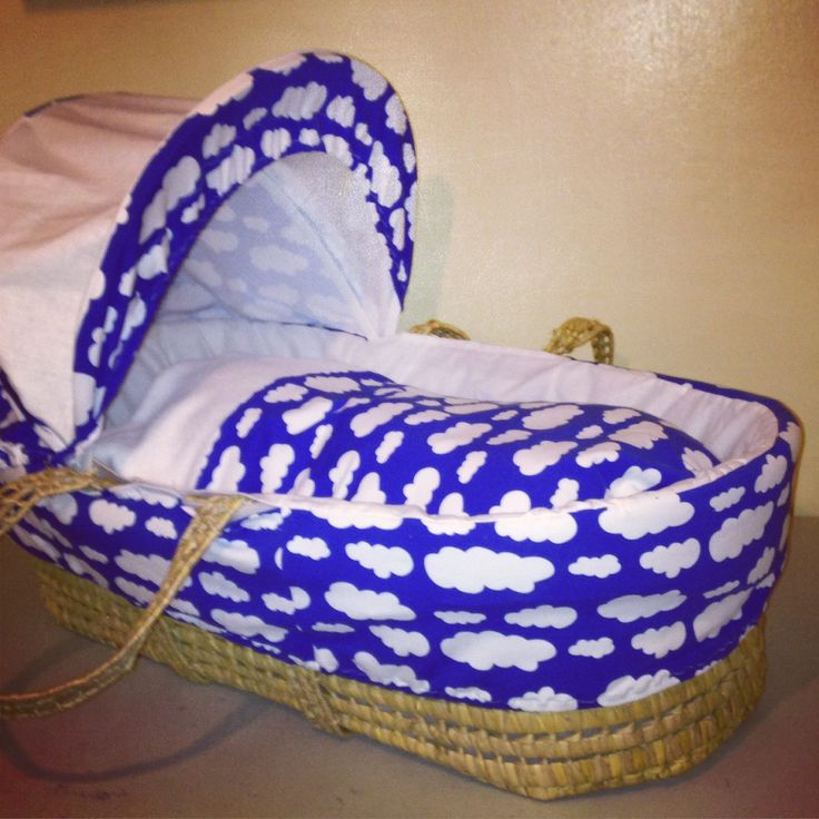 Clouds Moses basket cover set